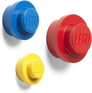 ROOM Copenhagen Conjunto de cabides de parede LEGO 40161732, tamanho único, vermelho/azul/amarelo