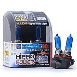Hipro Power 9005 100 Watts Super White Xenon HID Halogen Headlight Bulbs - High Beam