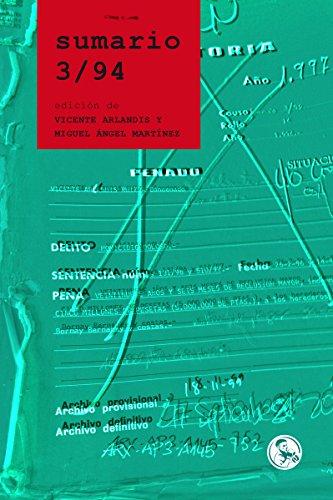 Sumario 3/94: la historia judicial de Vicente Arlandis: La novela (Libros Robados)