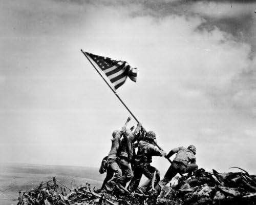 New Dedication 11x14 Photo: Raising NEW the on Flag Iwo Jima