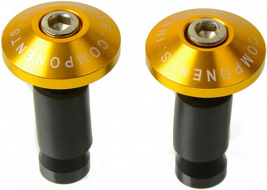 1 Paar Motorrad-Lenkerstecker CNC-Aluminiumlegierung Motorrad-Lenkerend-Schieberkappen f/ür Lenker-Endkappen