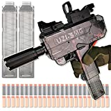 LANBABA UZI Toy Gun For Nerf Guns Automatic Machine Gun Electric Blaster With 2 Mags And 48 Airsoft Foam Darts, Toy Guns For Boys That Look Real W/ Tactical Attachment Party Supplies For Boys Birthday
