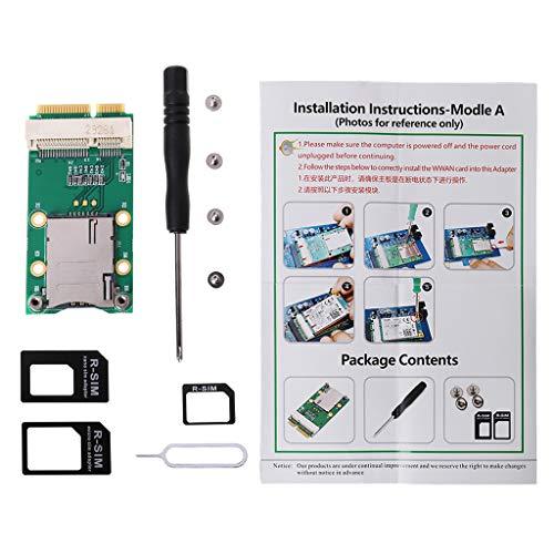 ZHINTE Expansion Card Mini PCI-E Adaptador de Tarjeta de extensión para módulo 3G 4G Ranura para Tarjeta adaptadora con Ranura para Tarjeta SIM para Tarjeta GPS 3G / 4G WWAN LTE