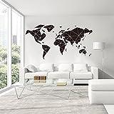 Adhesivo de pared de vinilo para mapamundi de oficina, mapamundi, diseño geométrico de mapamundi, viajes, global, 57 x 30 cm