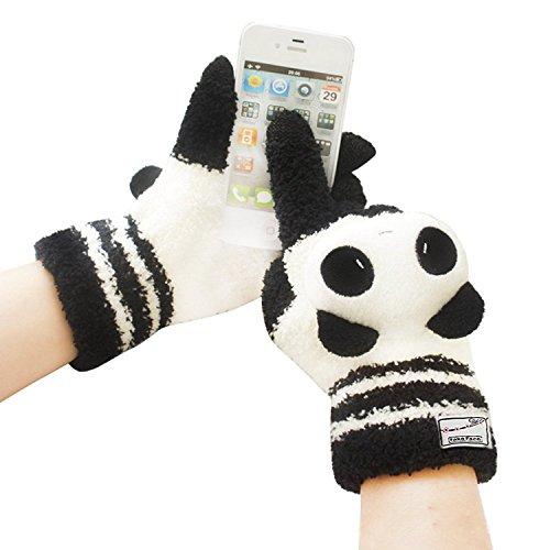 YJZQ Gants Écran Tactile en Fibre Gants Hiver Gants Tricoté Épaissir Coloré à écran Gants Chauds Thermique Doublé Accessoire de Smartphone pour Fille et Femme