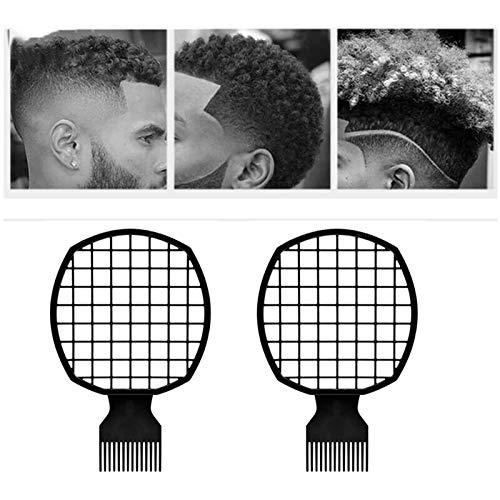 2 Piezas Peine De Pelo Afro Twist, Peine De Papel De Aluminio De Peluquería Trenzado Unisex, Peine De Bobina, Peine De Pelo Natural, Cepillo De Pelo Rizado para Cabello Lacio