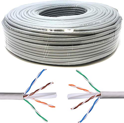 My smart shop Bobina de 100 metros de cable de red UTP Cat 7 LAN Ethernet M Bobina Internet ADSL Plug Modem Router Access Point ReaPETER CAT7