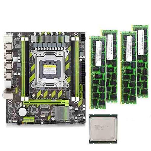FDSF X79G Motherboard LGA2011 -ATX Combos E5-2620 V2 E5 2620 V2 CPU 4Pcs x 4GB = 16GB DDR3 1600Mhz PC3 12800R
