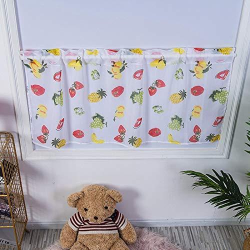 Cortina curta natural confortável de toque suave de alta qualidade, cortina de gabinete, durável para porta de sala de estar peitoril de janela quarto
