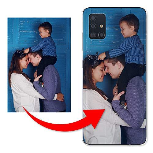 KX-Mobile Personalisierte Hülle für Samsung Galaxy A20e Handyhülle aus Silikon/TPU mit deinem eigenen Motiv - Dein eigenes Bild Selfie Design Foto