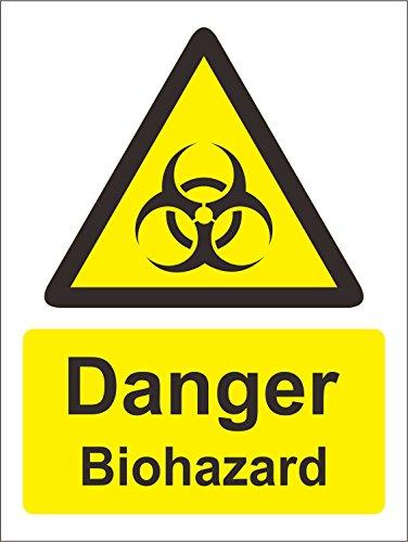 INDIGOS UG - Aufkleber - Sicherheit - Warnung - Warning Zeichens Danger Biohazard Safety Zeichen - 150mm x 100mm