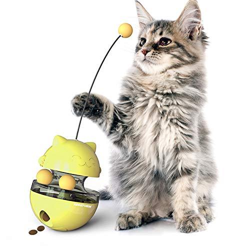REDSTORM - Juguete para gato, 4 en 1, dispensador de croqueta, gato, fácil de limpiar, juguete para gato y gato...