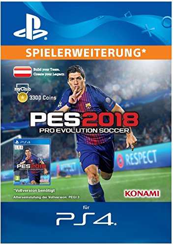 PES 2018 myClub Coin 3300 [PS4 Download Code - österreichisches Konto]