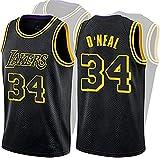 O'Neal # 34 Johnson Jersey # 32 Lakers de Baloncesto, Bordado City Versión Baloncesto Uniforme Top,...