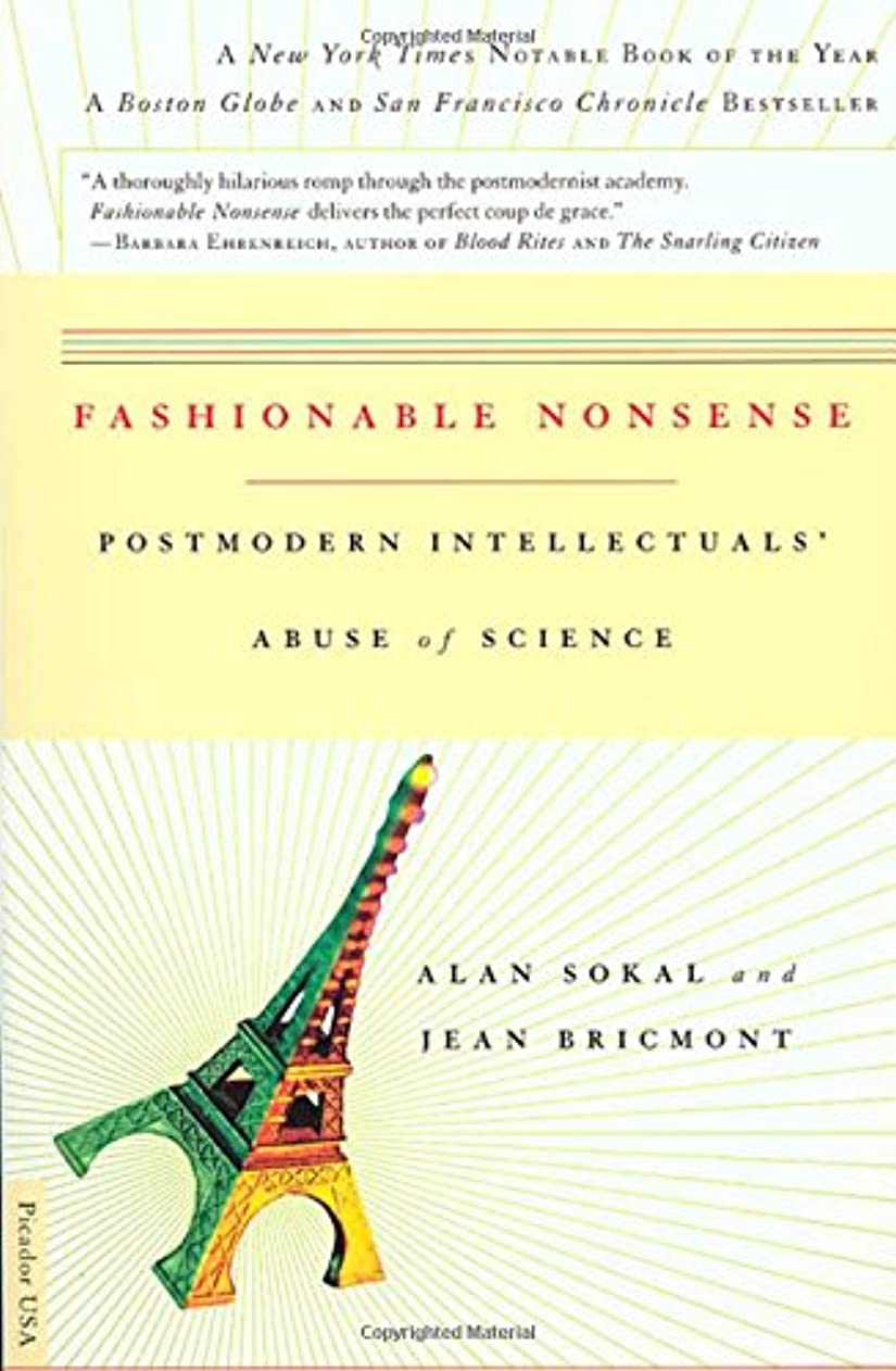 英語の授業があります不良品サスペンドFashionable Nonsense: Postmodern Intellectuals' Abuse of Science