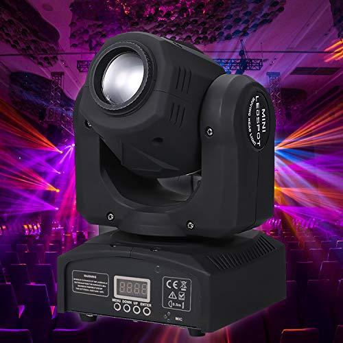 Lixada 90W LED Heads Moving Stage Light DMX512 Master-Slave Sound aktiviert Auto-Run 9/11 Kanäle drehen 8 Patterns 14 Farben Bühnenlampe für DJ Disco Club Hochzeitsfeier Dance Bar Beleuchtung