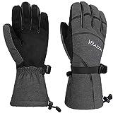 VELAZZIO Eco Gray Ski Gloves - Gray Black, Size L warm gloves Feb, 2021