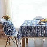 JDHANNE - Mantel rectangular para picnic o cumpleaños, diseño de Tovaglia impermeable, decoración de Della Tavola Da Pranzo Cucina, Lavabile Antimacchia, 140 x 200 cm