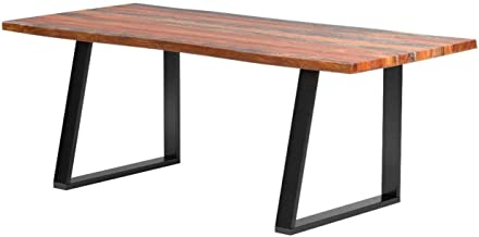 Jamestown Live Edge Dining Table Grey and Black