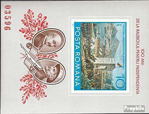 Prophila Collection Rumänien Block140 (kompl.Ausg.) 1977 Unabhängigkeit Rumäniens (Briefmarken für Sammler)