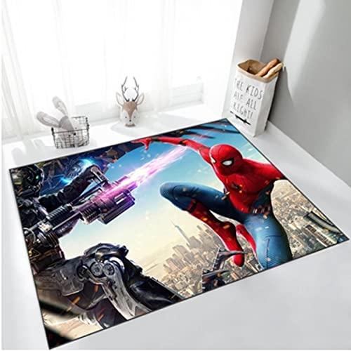 ZFGJ Tapis Moderne Salon Tapis Impression 3D Anime Spiderman...