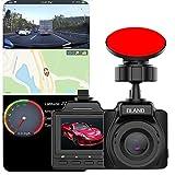 Cámara de Tablero Dual con Doble cámara con WiFi y GPS, 1080p Full HD 170 (en Modo Combinado), HDR con Gran Angular, grabación en Bucle, visión Nocturna, monitoreo de estacionamiento