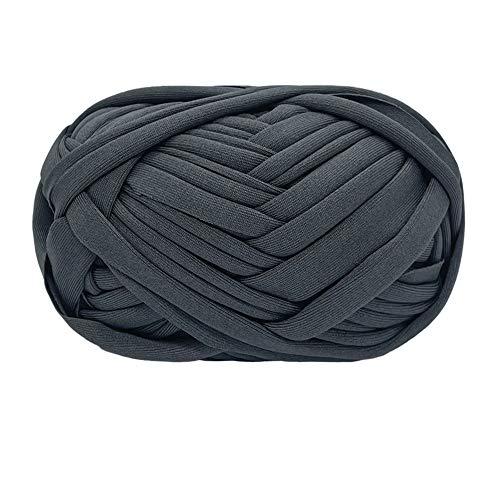 T-Shirt Filato Maglieria Filato Tessuto Crochet Panno per Estate Mano Borsa FAI DA TE Coperta Cuscino Uncinetto Progetti 100g (# 15 Grigio scuro)