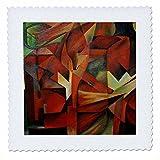 3dRose QS 17642_ 1Füchse Cubism-Quilt Platz, 10von