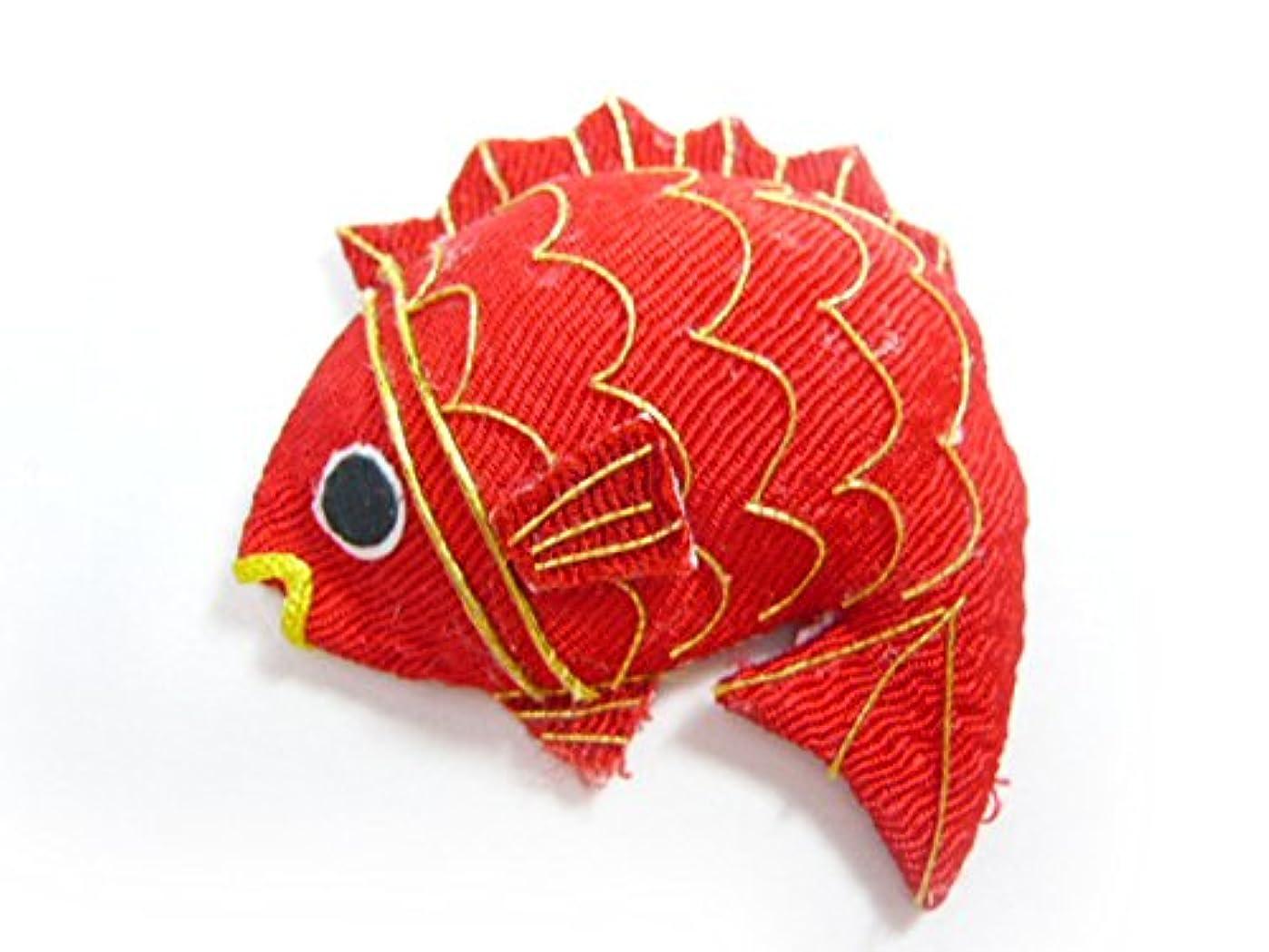 名目上のお肉アスペクト正月飾り◆ちりめん細工 半立体 鯛(1個)