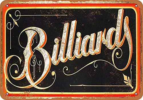 Billiards Metall Blechschild Retro Metall gemalt Kunst Poster Dekoration Plaque Warnung Bar Cafe Garage Party Game Room Hauptdekoration