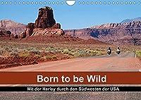 Born to be Wild - Mit der Harley durch den Suedwesten der USA (Wandkalender 2022 DIN A4 quer): Die landschaftlichen Highlights des amerikanischen Suedwestens im Sattel einer Harley (Monatskalender, 14 Seiten )