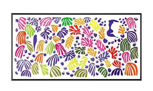 BaikalGallery Henri Matisse EL PAPAGAYO Y LA Sirena Cuadro (P2300)-Moldura de Aluminio Mate Color Negro - Montaje en Panel Adhesivo (Foam)- Laminado en Mate (Sin Cristal) (40x90cm)