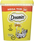 Dreamies -Golosinas para gatos, sabor: Queso MegaTub, 350g (Pack de 2)