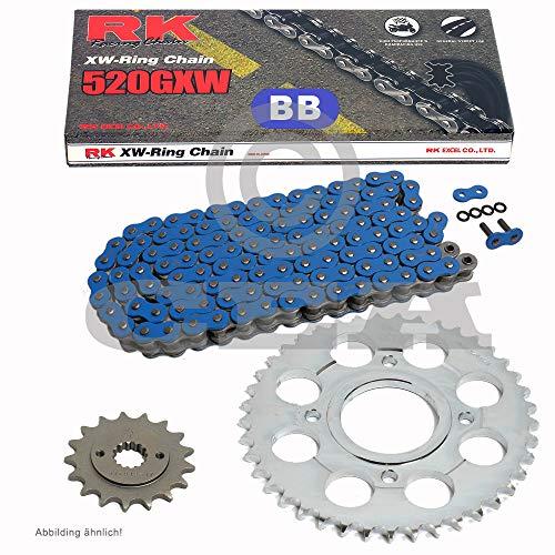 Chaîne de Ducati S-Sport 750 01–02, chaîne RK BB 520 gxw 98, bleu, ouvert, 15/40