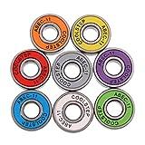 SM SunniMix 8 Piezas Rodamientos De Ruedas De Skate De Alta Velocidad Resistentes Al Desgaste ABEC-11 Color Mezclado