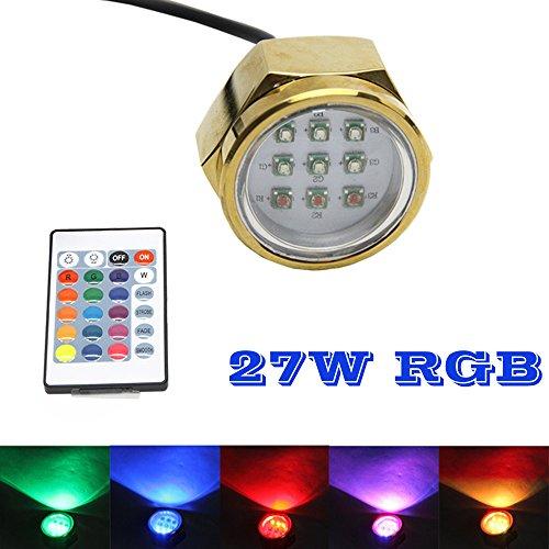 27w RGB führte Marine Boat Ablassschraube LED Unterwasserablassschraube Licht