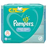 PAMPERS Frais Clean Lingettes pour Bébé 4 Paquets 208 Lingettes