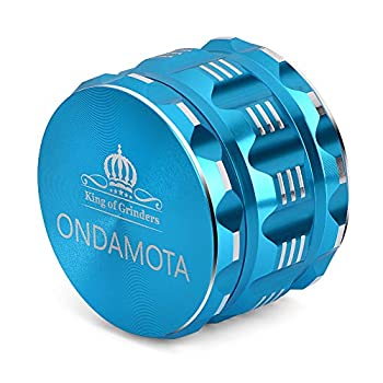 Herb Grinder Large 4 Piece 2.5  More Advanced for Easier Reliable Use Ideal for Preparing Ingredients Nutrients Herbs  Sky Blue