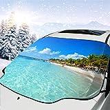 JONINOT Visera de sombrilla automática para Parabrisas Delantero Impermeable Riviera Maya Paradise Playas Cancún Quintana Protector protección contra heladas Invierno vehículos