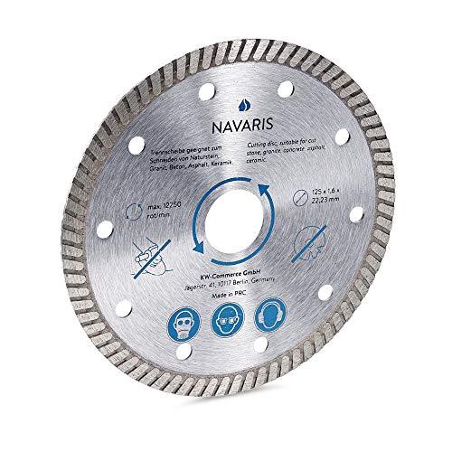 Navaris Diamanttrennscheibe Trennscheibe Diamant Scheibe - Flexscheibe für Winkelschleifer - 125mm Diamantscheibe für Fliesen Keramik Beton