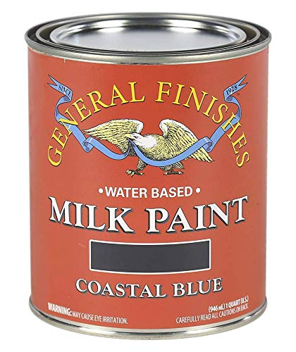 General Finishes Water Based Milk Paint, 1 Quart, Coastal Blue