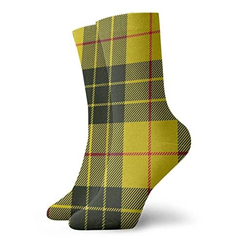 Calcetines de senderismo a cuadros escoceses Macleod Tartan Calcetines atléticos para hombres y mujeres Calcetines deportivos para hombres Cojín Calcetín deportivo informal para entrenamiento