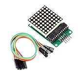 ARCELI MAX7219 Rojo Módulo de visualización de Matriz de Puntos LED MCU Control DIY Kit para Arduino