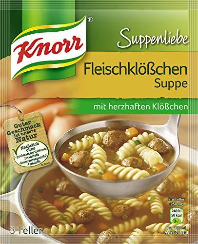 Knorr Suppenliebe Fleischklößchen Suppe, 14 x 3 Teller (14 x 750 ml)