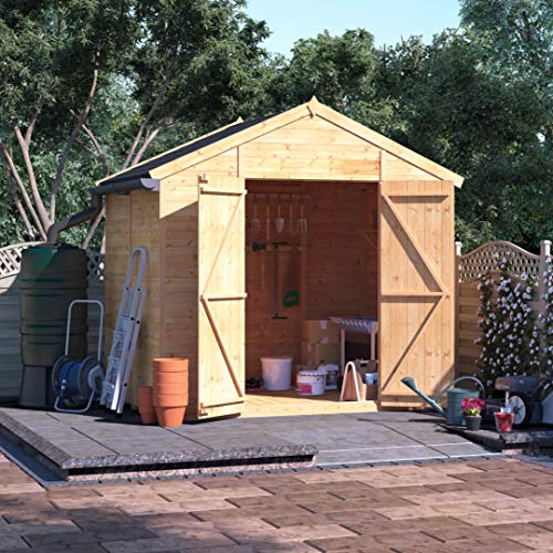 BillyOh Expert Tongue and Groove Apex Workshop   Garden Storage Shed   Floor, Roof and Felt Included   Windowed or Windowless Options- Multiple Sizes (6x8 Windowless)