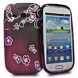 Accessory Master - Carcasa para Samsung Galaxy S III Mini i8190, diseño de árbol con corazones
