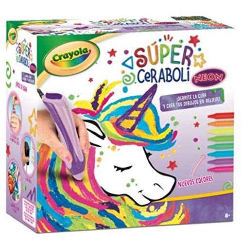 BricoLoco. Super ceraboli Unicornio. Crayola calienta Juego de manualidades para pintar