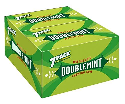 Doublemint Kaugummi | Erfrischender Minz-Geschmack | 14 Packungen (14 x 7 x 5 Streifen)