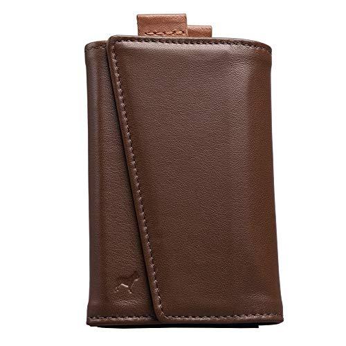 The Frenchie Co. Speed Wallet | Mokka Tan | Das Original Speed Wallet für Herren mit RFID-Blockierung und superschnellem Kartenzugriff | Italienisches Leder Ultra Slim