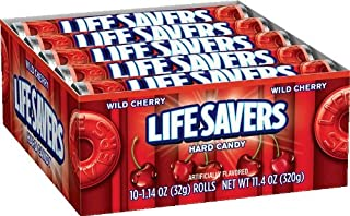 LifeSavers Wild Cherry Hard Candy, 1.14-Ounce Rolls (Pack of 60)